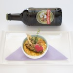Entenleber Crème Brûlée mit einem Chutney von Kaki und Dörrfeigen, Bier: Gallus 612 - old style ale