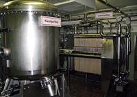 Installation de filtrage de la brasserie Rugenbräu.